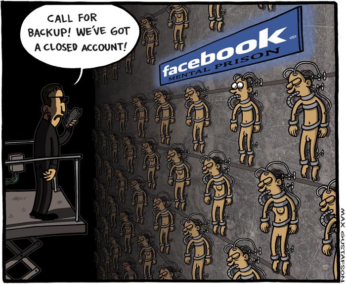 Is facebook down? Cartoon by Max Gustafson